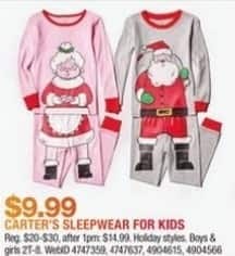 Macy's Black Friday: Select Holiday Style Kids Carter's Sleepwear for $9.99