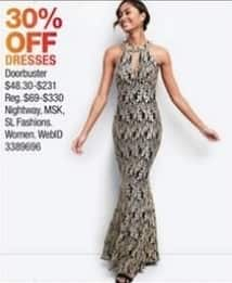 Macy's Black Friday: Select Dresses: Nightway, MSK and More for $48.30 - $231.00