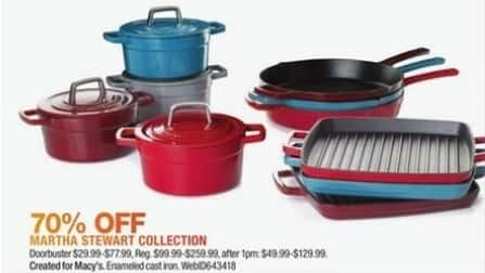 Macy's Black Friday: Select Martha Stewart Collection Cookware and Kitchen Items for $29.99 - $77.99