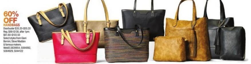 Macy's Black Friday: Select Handbags: Steve Madden and More for $35.20 - $55.20