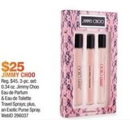 Macy's Black Friday: Jimmy Choo Eau de Parfum and Eau de Toilette for $25.00