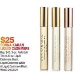 Macy's Black Friday: Donna Karan 3-Pc. Liquid Cashmere Collection Rollerball Gift Set for $25.00