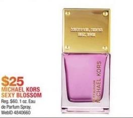 Macy's Black Friday: Michael Kors Sexy Blossom Eau de Parfum Travel Spray for $25.00