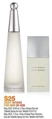 Macy's Black Friday: Issey Miyake Fragrances for Men and Women for $25.00