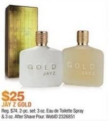 Macy's Black Friday: 2-Pc. Gold Jay Z Gift Set for $25.00