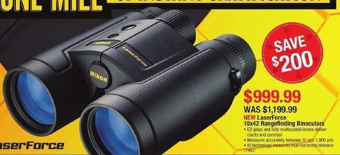 Cabelas Black Friday: LaserForce 10x42 Rangefinding Binoculars for $999.99
