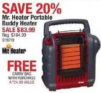 Cabelas Black Friday: Mr. Heater Portable Buddy Heater + Carry Bag for $83.99