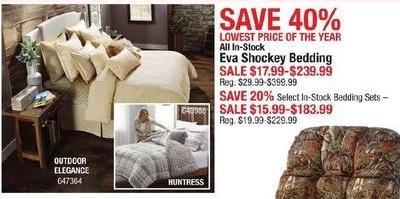 Cabelas Black Friday: Entire Stock Eva Shockey Bedding for $17.99 - $239.99