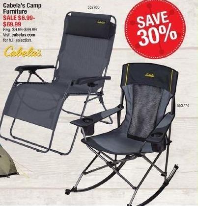 Cabelas Black Friday: Cabela's Camp Furniture for $6.99 - $69.99