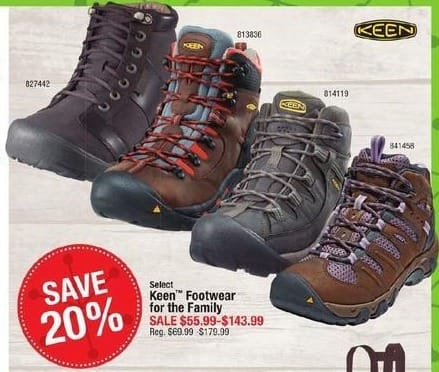 Cabelas Black Friday: Select Styles: Keen Footwear for the Family for $55.99 - $143.99