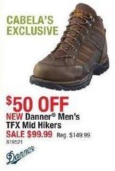 Cabelas Black Friday: Danner Men's TFX Mid Hikers for $99.99