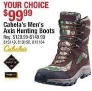 Cabelas Black Friday: Cabela's Men's Axis Hunting Boots for $99.99