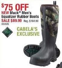 Cabelas Black Friday: Muck Men's Equalizer Rubber Boots for $89.99
