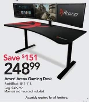 Office Depot and OfficeMax Black Friday: Arozzi Arena Gaming Desk for $248.99