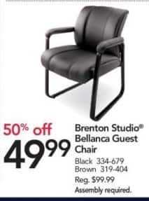 Office Depot and OfficeMax Black Friday: Brenton Studio Bellanca Guest Chair for $49.99