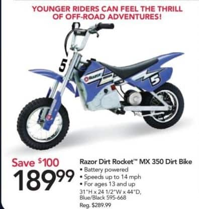 Office Depot and OfficeMax Black Friday: Razor Dirt Rocket MX 350 Dirt Bike for $189.99