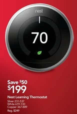 Office Depot and OfficeMax Black Friday: Nest Learning Thermostat for $199.00