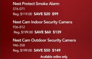 Office Depot and OfficeMax Black Friday: Nest Cam Indoor Security Camera for $139.00