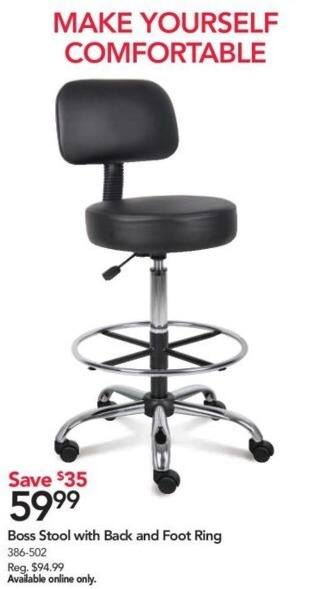 Attirant Office Depot And OfficeMax Black Friday: Boss Stool W/Back And Foot Ring For