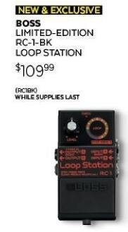 Guitar Center Black Friday: Boss RC-1-BK Loop Station for $109.99