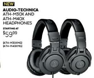 Guitar Center Black Friday: Audio-Technica ATH-M30x Matte Grey Headphones for $59.99