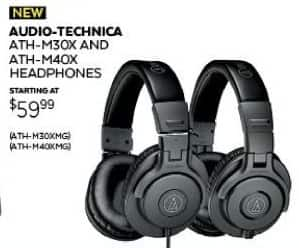 Guitar Center Black Friday: Audio-Technica ATH-M40x Matte Grey Headphones for $79.99