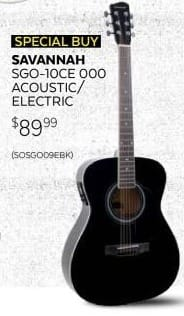 Guitar Center Black Friday: Savannah SGO-10CE 000 Acoustic-Electric Guitar for $89.99