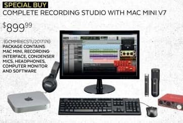 Guitar Center Black Friday: Apple Mac Mini v7 MGEM2LL/A w/Complete Recording Studio for $899.99