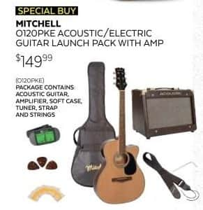 guitar center black friday mitchell o120pke acoustic electric guitar launch pack w amp 3 color. Black Bedroom Furniture Sets. Home Design Ideas