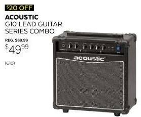 Guitar Center Black Friday: Acoustic Lead Guitar Series G10 10W 1x8 Guitar Combo Amp for $49.99
