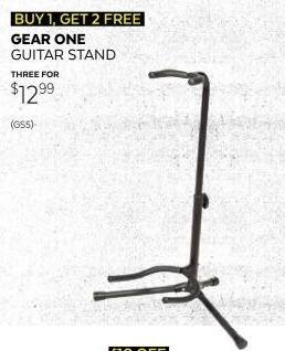 Guitar Center Black Friday: Gear One GS5 Guitar Stand for $12.99
