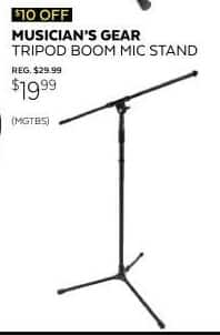 Guitar Center Black Friday: Musician's Gear Tripod Boom Mic Stand for $19.99