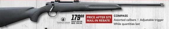 Field & Stream Black Friday: Compass Gun w/Assorted Calibers and Adjustable Trigger for $179.98 after $75.00 rebate