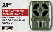 Field & Stream Black Friday: Primos 12MP Gen 2-01 Proof Cam for $29.98