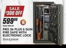 Field & Stream Black Friday: Pro 36 Plus 6 Gun Fire Safe w/Electronic Lock for $599.98