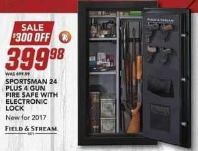 Field & Stream Black Friday: Sportsman 24 Plus 4 Gun Fire Safe w/Electronic Lock for $399.98