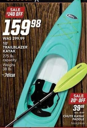 Field & Stream Black Friday: Chute Kayak Paddle for $39.98