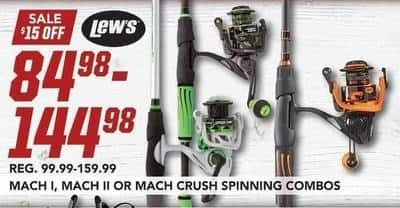 Field & Stream Black Friday: Entire Stock Lew's Mach I, II or Crush Spinning Combo Fishing Poles for $84.98 - $144.98