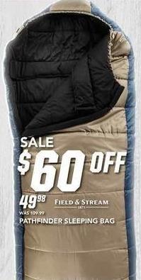 Field & Stream Black Friday: Field & Stream Pathfinder Sleeping Bag for $49.98