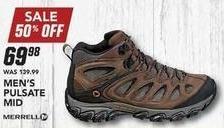 Field & Stream Black Friday: Merrell Men's Pulsate Mid Hikers for $69.98
