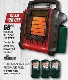 Field & Stream Black Friday: Mr. Heater Buddy Heater for $69.98