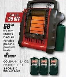 Field & Stream Black Friday: (3) Coleman 16.4 oz. Propane Fuel for $10.00