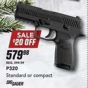 Field & Stream Black Friday: Standard or Compact Sig Sauer P320 Gun for $579.98