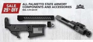 Field & Stream Black Friday: Entire Stock Palmetto State Armory Components and Accessories - 25% Off