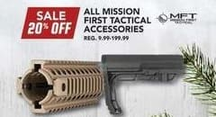 Field & Stream Black Friday: Entire Stock Mission First Tactical Accessories - 20% Off