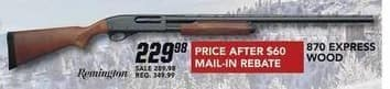 Field & Stream Black Friday: Remington 870 Express Wood Gun for $229.98 after $60.00 rebate