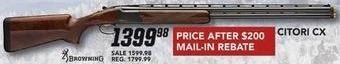 Field & Stream Black Friday: Citori CX Gun for $1,399.98 after $200 rebate