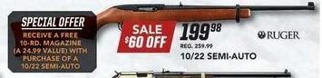Field & Stream Black Friday: Ruger 10/22 Semi-Auto Gun + Free Magazine for $199.98