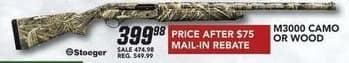 Field & Stream Black Friday: M3000 Camo or Wood Gun for $399.98 after $75 rebate