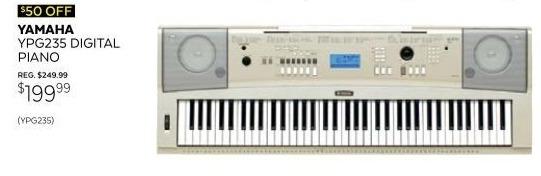 Guitar Center Black Friday: Yamaha YPG-235 76-Key Portable Grand Piano for $199.99
